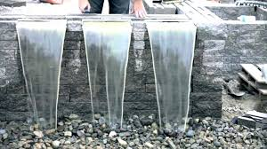 diy waterfall wall water wall fountain build a waterfall how to outdoor spillways with fountains glass water wall diy wall fountains outdoor