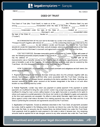 Loan Repayment Contract Free Template Enchanting Deed Of Trust Form Create Download A Free Deed Of Trust Form