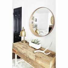 $100 modern round mirror - ikea @katie_blythe_designs