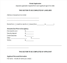 Rental Application Form In Word Format Credit Check Tenant Pdf