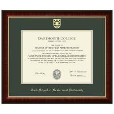 spirit shop graduation shop diploma frames and gifts  diploma frame murano tuck school of business at dartmouth