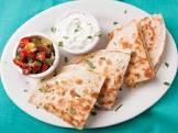 baked crab and olive quesadillas