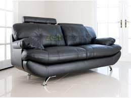 Black faux leather sofa Mainstays Leather Fabric Sofas Chesterfields Home Furniture High Quality Living Room Dining Room And Bedroom Furniture Including Sofas And Beds Zest Interiors Zest Interiors Verona Seater Black Faux Leather Sofa W Adjustable Headrest