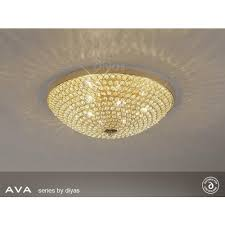 il30757 ava 6 light french gold crystal ceiling light