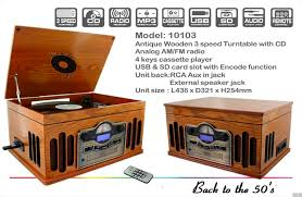 10103 back to the 50 s antique wooden 3 sd turntable am fm radio vintage design record player