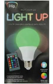 Ihip Color Changing Light Bulb Foco Bombilla Led De Cambio De Color Ihip Con Control Remoto