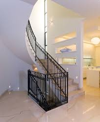 staircase lighting design. Staircase Wall Design Contemporary With Stair Lighting Wrought Iron Raili