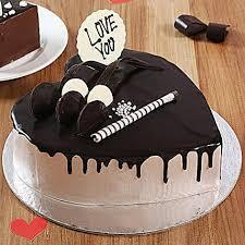 Heart Shaped Cream Chocolate Cake Half Kg Gift Online Creamy