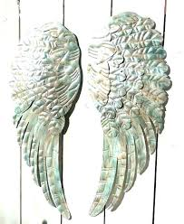 metal angel wings wall decor angels large with heart uk