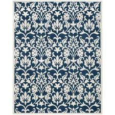 amherst navy ivory 8 ft x 10 ft indoor outdoor area rug