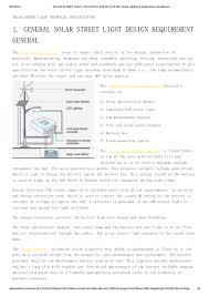Automated Solar Street Light System Ppt Solar Street Light Technical Specification Solar Lighting