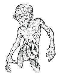 zombie coloring pictures pages cool book printable scary