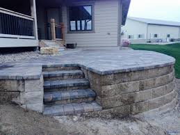 raised paver patio. Unique Patio And Raised Paver Patio E
