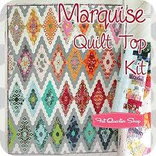 13 best Tula pink quilt images on Pinterest   Patchwork quilting ... & Marquise Quilt Top Kit<BR>Featuring Moon Shine by Tula Pink Fabric Adamdwight.com