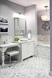 half bathroom ideas gray. Bedroom, Luxury Half Bathroom Ideas Gray Tile Pwinteriors Theydesign With Classy White Subway Ceramic Bath R