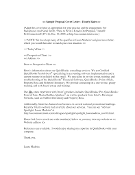 Cover Letter Proposal Sample Vancitysounds Com