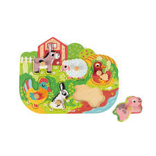 Happy Farm Puzzle <b>6 pieces</b> (<b>wood</b>)
