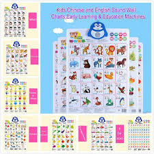 Chinese Sound Chart Learning Machine Chart Early Chinese And English Sound Wall Kids Learning Education 11 Types Buy 3