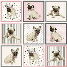 Boris The Dog Wallpaper Grey Pink ...