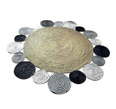 circular jute rug round jute rug in beige grey black colours