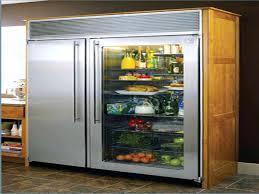 glass front refrigerator decoration