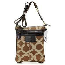 Coach Legacy Swingpack In Signature Small Camel Crossbody BagsAV