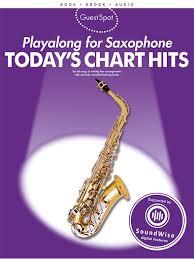 Saxophone Size Chart Guest Spot Todays Chart Hits Sax Alto Bk Cd