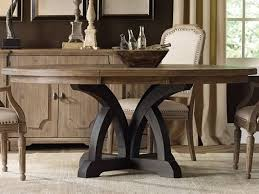 furniture corsica dark light wood 54 wide round dining table with extension