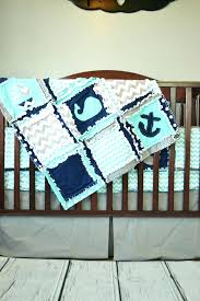 anchor crib bedding anchor crib bedding nautical crib bedding boats whales anchors aqua navy and gray