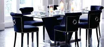 velvet dining room chairs captivating navy blue of the home throughout studded captiva