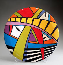 Cliff House Studio and Gallery — Pamela Summers Polychrome   Pottery  painting designs, Stone art, Rock painting designs