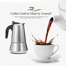 Add the coffee to the machine and add hot water. Uarter Stainless Steel Stovetop Espresso Maker Moka Coffee Pot Coffee Maker 4 Demitasse Cup 2 Oz 200ml Stovetop Espresso Moka Pots All For Coffee Tea Espresso The Best Place