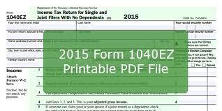 2016 form 1040ez printable pdf file and