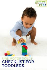 Fine Motor Skills Checklist For Babies 0 18 Months Old
