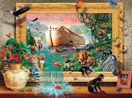 noah s arc framed animals jigsaw puzzle