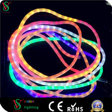 Flexible Neon Led Rope Lights Hot Item Rainbow Night Popular Flexible Rope Light For Christmas Decoration