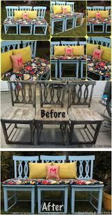 Repurpose old furniture Bedroom Create An Outdoor Bench Diy Crafts 20 Brilliantly Creative Ways To Repurpose Old Chairs Diy Crafts