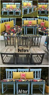 create an outdoor bench save those old chairs