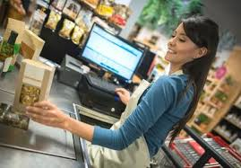 Резултат слика за cashier working at supermarket