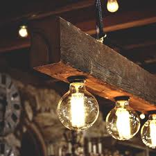 wooden light fixtures in rustic style for home ideas