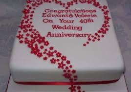 40th Wedding Anniversary Cake Decorating Ideas Delicious Cake Recipe