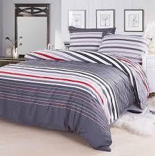 red grey striped designer cotton fabric