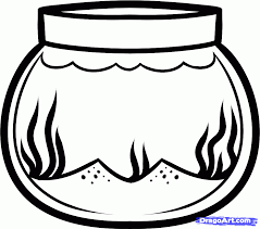 Small Picture Fish bowl coloring page clipart ClipartBarn