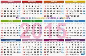 Elefantes Azules Voladores Calendario 2015 Para Imprimir