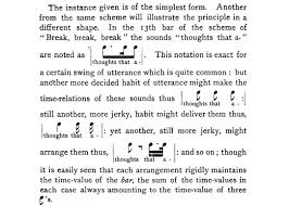 lanierb jpg  figure 4 discussion of rhythmic scheme for line 4 of break break break from sidney lanier the science of english verse 1880 109
