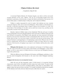 Pdf Filipino Folklore Revisited