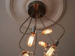 fabulous multi bulb ceiling light changing a fixture retro lamps