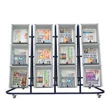 Newspaper Display Stands Simple Forecourt Newspaper Display Stand