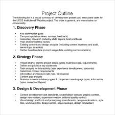 Microsoft Word Outline Template Project Outline Template Word Best Of Project Outline