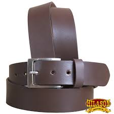 hilason handmade heavy duty western genuine leather mens dress belt brown 36 0